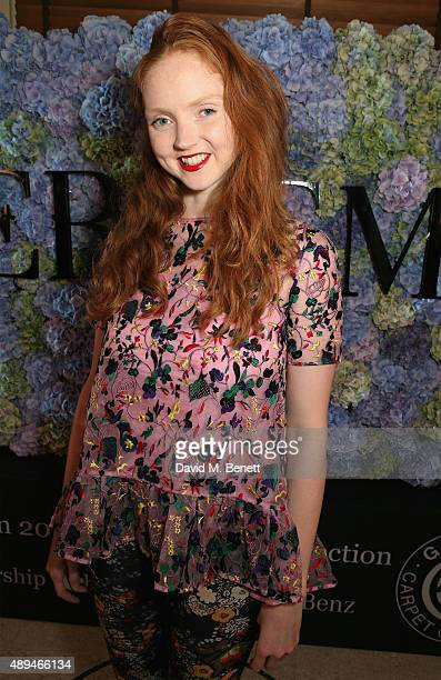 Lily Cole attends the London 2015 Green Carpet Collection By Erdem in partnership with MercedesBenz at the Wallace Collection on September 21 2015 in...