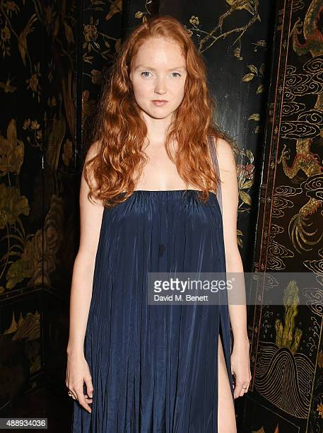 Lily Cole attends the London Fashion Week party hosted by Ambassador Matthew Barzun and Mrs Brooke Brown Barzun with Alexandra Shulman, in...