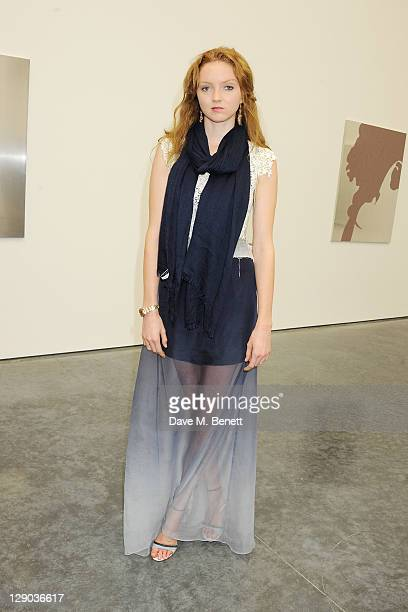 Lily Cole attends the opening of the new White Cube Bermondsey gallery on October 11 2011 in London England