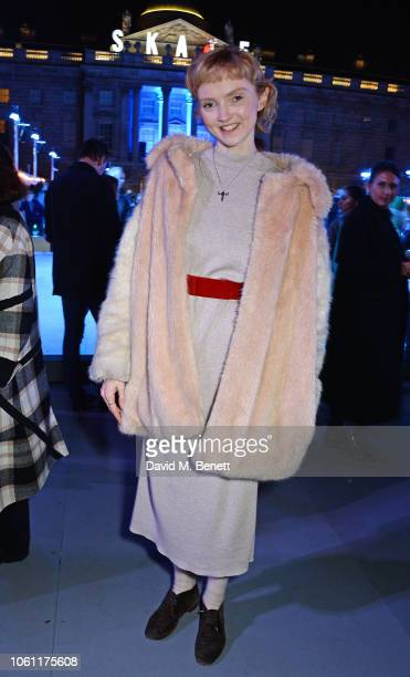 Lily Cole attends the opening party of Skate at Somerset House with Fortnum & Mason on November 13, 2018 in London, England. London's favourite...