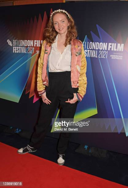 """Lily Cole attends the UK Premiere of """"She Will"""" during the 65th BFI London Film Festival at the The Curzon Mayfair on October 16, 2021 in London,..."""