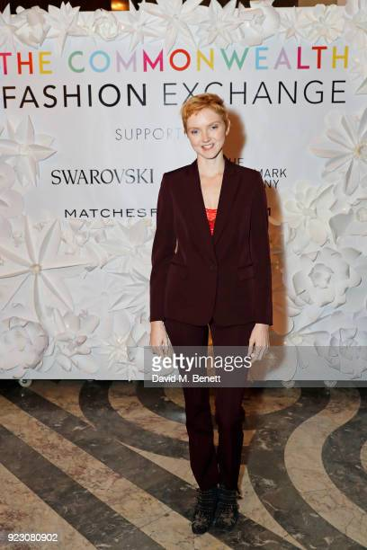 Lily Cole attends the VIP preview of the Commonwealth Fashion Exchange exhibition at the High Commission of Australia on February 22 2018 in London...