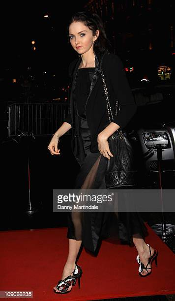 Lily Cole attends the Weinstein Company BAFTA Party held at W Hotel Leicester Square on February 13 2011 in London England