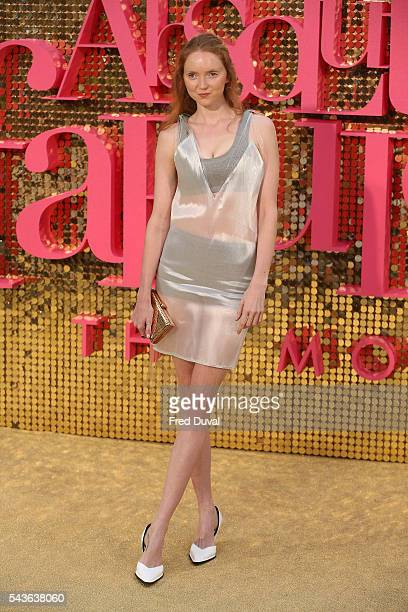 Lily Cole attends the World premiere of 'Absolutely Fabulous' at Odeon Leicester Square on June 29 2016 in London England
