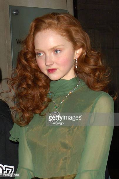 Lily Cole during DeBeersLV Launch Party at Victoria & Albert Museum in London, Great Britain.