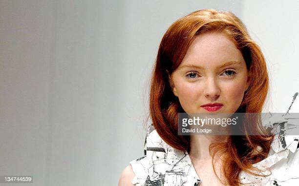 Lily Cole during London Fashion Week Autumn/Winter 2006 Photocall at Natural History Museum in London Great Britain