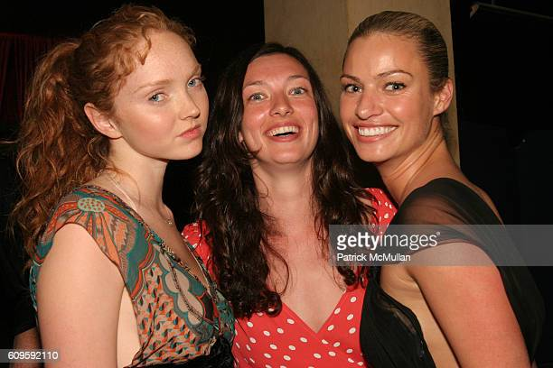 Lily Cole Kate Elson and Christy Hinze attend After Party for Benefit Screening of In The Valley Of Elah Hosted by TALS and Paul Haggis at Jour et...