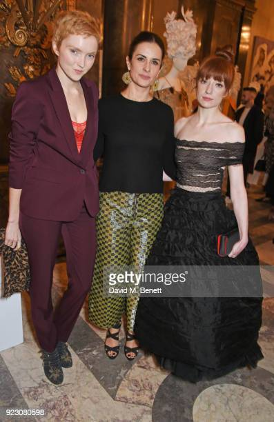 Lily Cole Livia Firth Founder and Creative Director of EcoAge and Nicola Roberts attend the VIP preview of the Commonwealth Fashion Exchange...