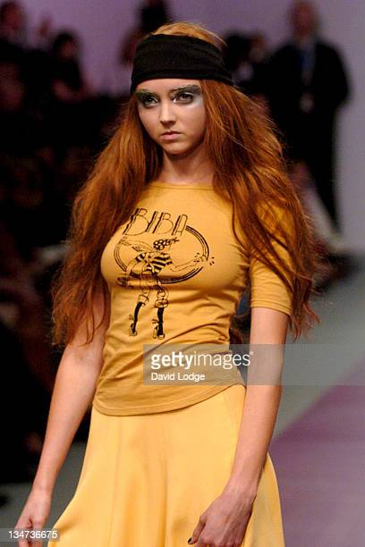 Lily Cole wearing BIBA Spring/Summer 2007 during London Fashion Week Sping/Summer 2007 - BIBA - Runway and Front Row at BFC Tent in London, Great...