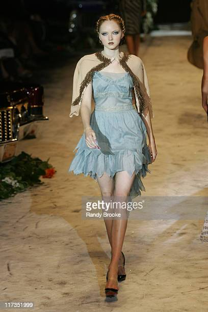 Lily Cole wearing Gwen Stefani for LAMB Spring 2006