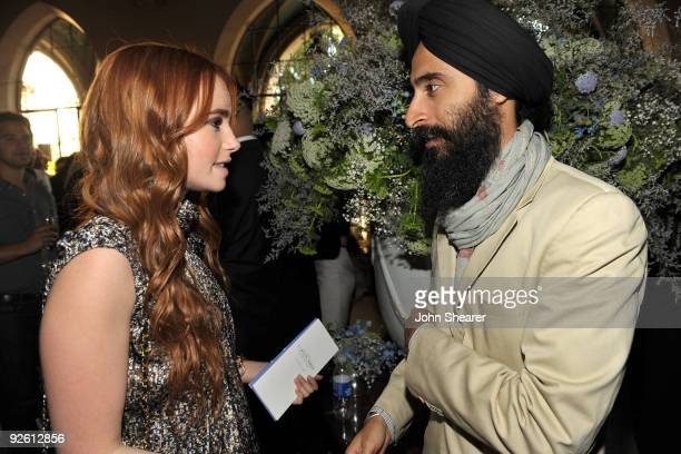 LOS ANGELES CA OCTOBER 30 Lily Collins and Waris Ahluwalia attend the CFDA/Vogue Fashion Fund Event at Chateau Marmont on October 30 2009 in West...