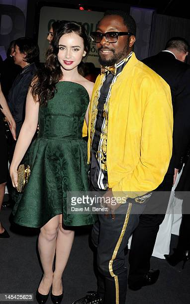 Lily Collins and william attend an after party following the Glamour Women of the Year Awards in association with Pandora at Berkeley Square Gardens...