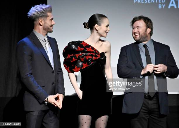"""Lily Collins and Zac Efron participate in the Q&A for Netflix's """"Extremely Wicked, Shockingly Evil and Vile"""" Tribeca Film Festival Premiere at BMCC..."""