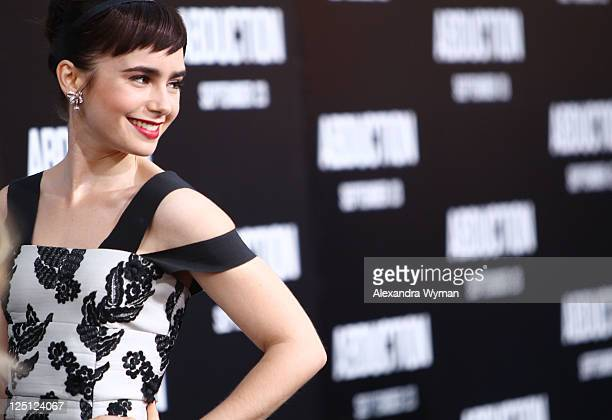 Lily Collins at the Abduction Los Angeles Premiere held at Grauman's Chinese Theatre on September 15 2011 in Hollywood California