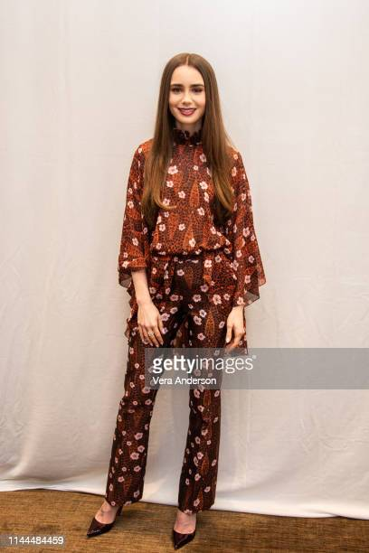 Lily Collins at the Tolkien Press Conference at the Four Seasons Hotel on April 22 2019 in Beverly Hills California