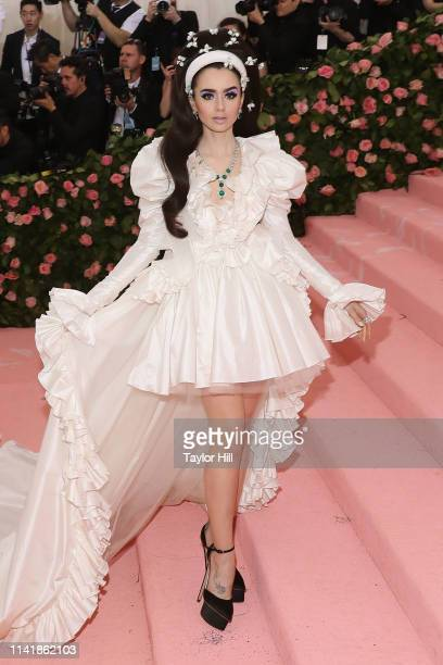Lily Collins attends the 2019 Met Gala celebrating Camp Notes on Fashion at The Metropolitan Museum of Art on May 6 2019 in New York City