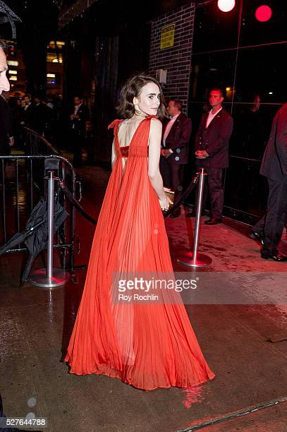 Lily Collins attends the after Party at the Standard Hotel following Manus x Machina Fashion In An Age Of Technology Costume Institute Gala on May 2...