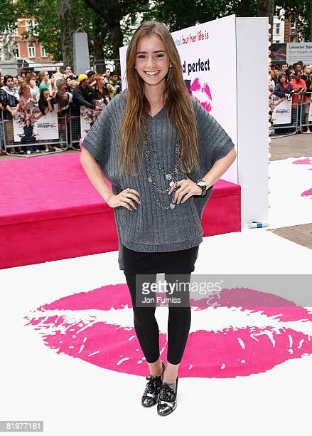 Lily Collins attends the Angus, Thongs and Perfect Snogging film premiere held at the Empire Leicester Square on July 16, 2008 in London, England.