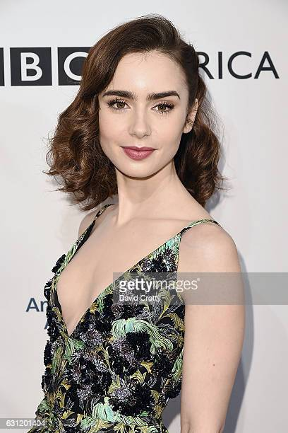 Lily Collins attends The BAFTA Tea Party Arrivals at Four Seasons Hotel Los Angeles at Beverly Hills on January 7 2017 in Los Angeles California