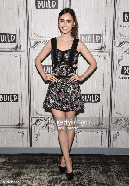 Lily Collins attends the Build Series to discuss the Amazon new series 'The Last Tycoon' at Build Studio on July 26 2017 in New York City