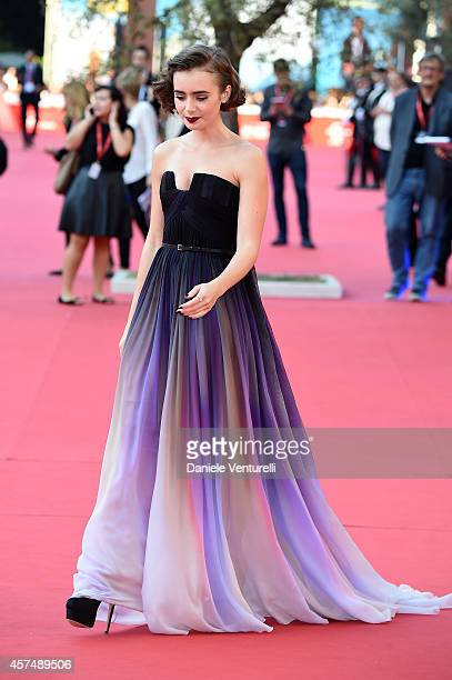 Lily Collins attends the 'Love Rosie' Red Carpet during the 9th Rome Film Festival on October 19 2014 in Rome Italy