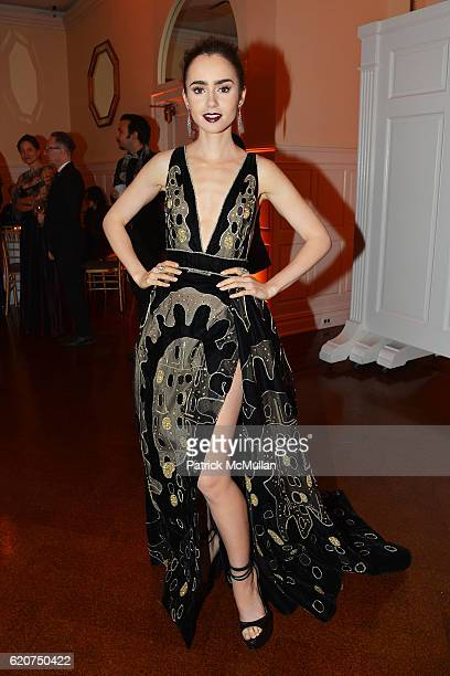 Lily Collins attends the Museum Of The Moving Image 30th Annual Salute Honoring Warren Beatty at 583 Park Avenue on November 2 2016 in New York City