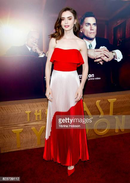 Lily Collins attends the premiere of Amazon Studios 'The Last Tycoon' at the Harmony Gold Preview House and Theater on July 27 2017 in Hollywood...