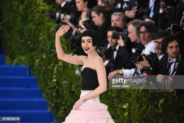 Lily Collins attends the 'Rei Kawakubo/Comme des Garcons Art Of The InBetween' Costume Institute Gala at Metropolitan Museum of Art on May 1 2017 in...