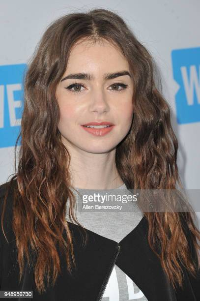 Lily Collins attends WE Day California at The Forum on April 19 2018 in Inglewood California