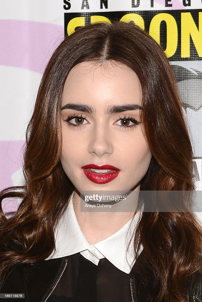 Lily Collins attends WonderCon Anaheim 2013 - Day 2 at Anaheim Convention Center on March 30, 2013 in Anaheim, California.