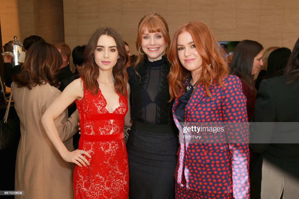 Lily Collins, Bryce Dallas Howard and Isla Fisher attend The Hollywood Reporter's 2017 Women In Entertainment Breakfast at Milk Studios on December 6, 2017 in Los Angeles, California.