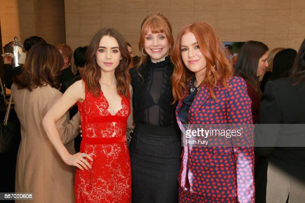 Lily Collins Bryce Dallas Howard and Isla Fisher attend The Hollywood Reporter's 2017 Women In Entertainment Breakfast at Milk Studios on December 6...