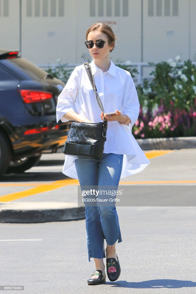 Lily Collins is seen on August 18, 2017 in Los Angeles, California.