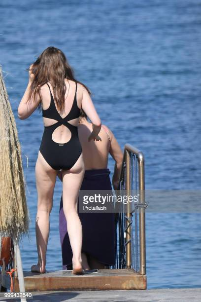 Lily Collins is seen on July 15 2018 in Ischia Italy