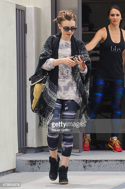 Lily Collins is seen on May 15 2015 in Los Angeles California