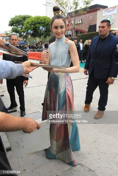 Lily Collins is seen on May 9 2019 in Los Angeles California