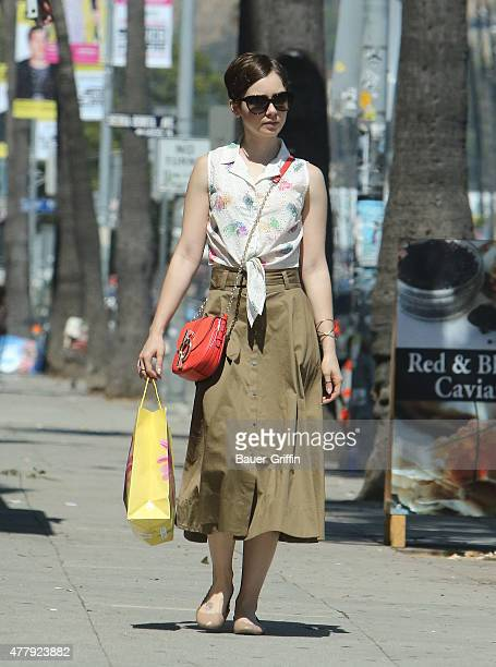 Lily Collins is seen out shopping on June 20 2015 in Los Angeles California
