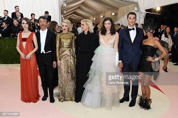 Lily Collins Pierpaolo Piccioli Rachel McAdams Maria Grazia Chiuri Lorde Miles Teller and Zoe Kravitz attend the 'Manus x Machina Fashion In An Age...