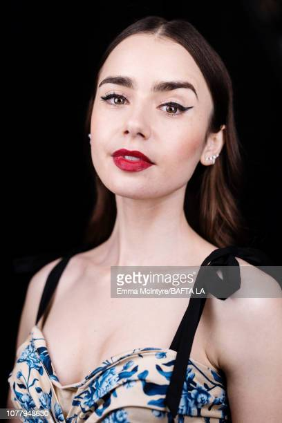 Lily Collins poses for a portrait at The BAFTA Tea Party on January 5 2019 in Beverly Hills California