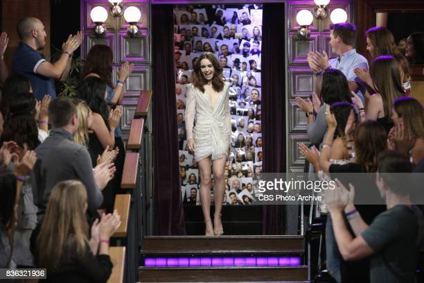 Lily Collins visits 'The Late Late Show with James Corden' Monday August 7 2017 On The CBS Television Network