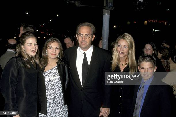 Lily Costner Annie Costner Kevin Costner Christine Baumgartner and Joe Costner at the Mann Village Theatre in Westwood California