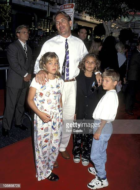 Lily Costner Kevin Costner Annie Costner and Joe Costner