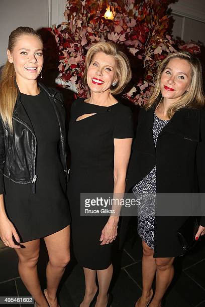 Lily Cowles Christine Baranski and Isabel Cowles pose at The Manhattan Theatre Club's Fall Benefit honoring Christine Baranski at 583 Park Ave Event...