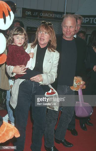 Lily Dolores Harris Amy Madigan and Ed Harris during The Aristicats Video Release April 18 1996 at Mann Village Theater in Westwood California United...