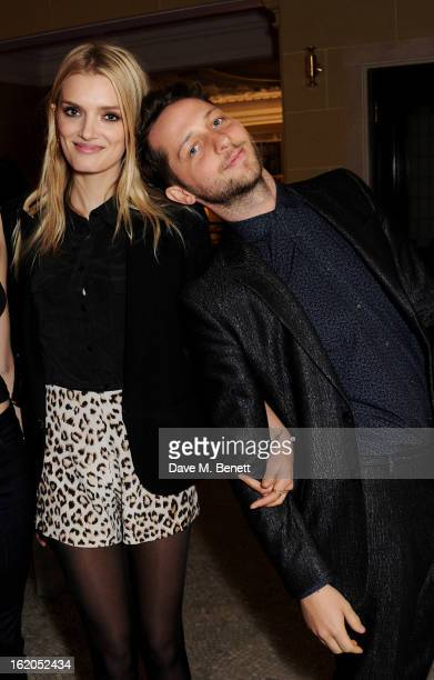 Lily Donaldson and Derek Blasberg attend the AnOther Magazine and Dazed Confused party with Belvedere Vodka at the Cafe Royal hotel on February 18...