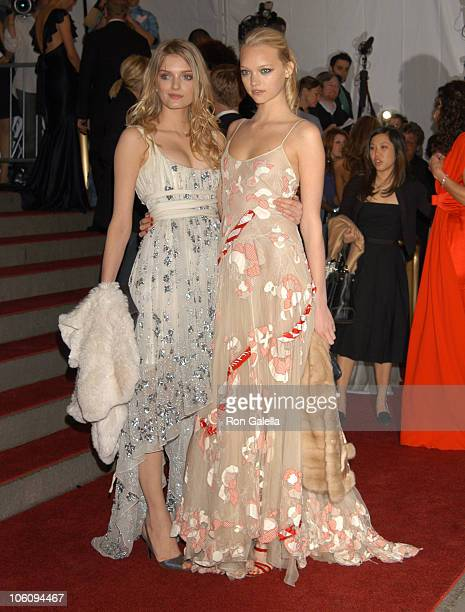 Lily Donaldson and Gemma Ward Dance CoChairs of the AngloMania Costume Institute Gala