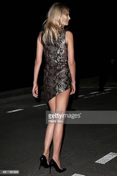 Lily Donaldson arrives at Vogue 95th Anniversary Party as part of the Paris Fashion Week Womenswear Spring/Summer 2016 on October 3 2015 in Paris...