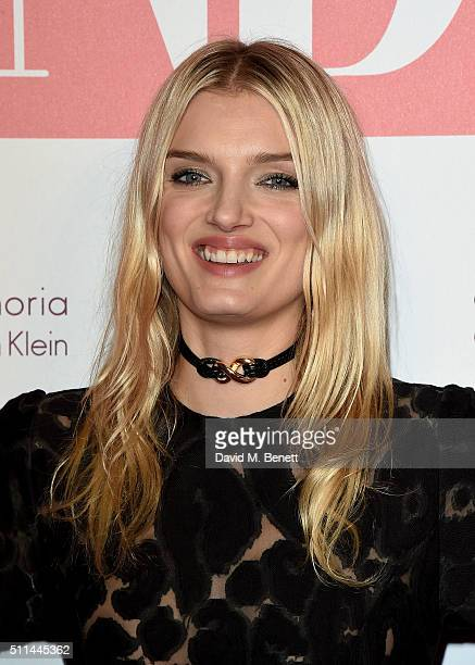 Lily Donaldson at The Naked Heart Foundation's Fabulous Fund Fair in London at Old Billingsgate Market on February 20 2016 in London England