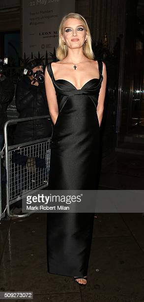 Lily Donaldson attending Vogue 100 A Century of Style exhibition opening reception National Portrait Gallery on February 9 2016 in London England