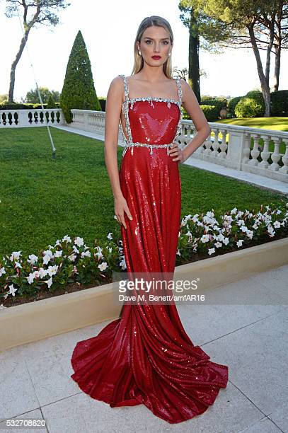 Lily Donaldson attends amfAR's 23rd Cinema Against AIDS Gala at Hotel du CapEdenRoc on May 19 2016 in Cap d'Antibes France
